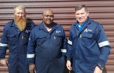 SA nuclear cleaning team